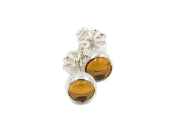 Natural-citrine-earrings-sterling-silver