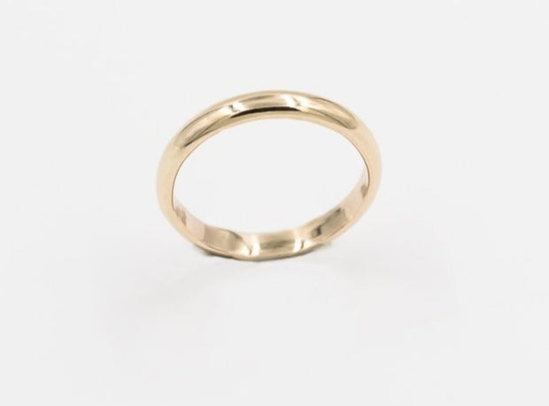 Solid 14k yellow gold ring comfort fit