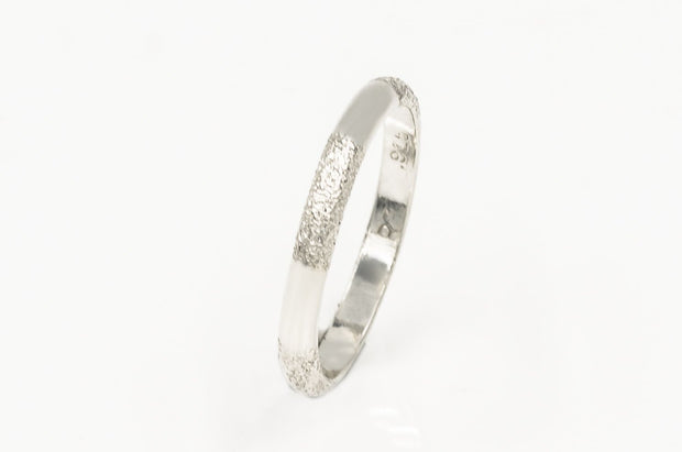 Sterling Silver Textured Band 2.5mm