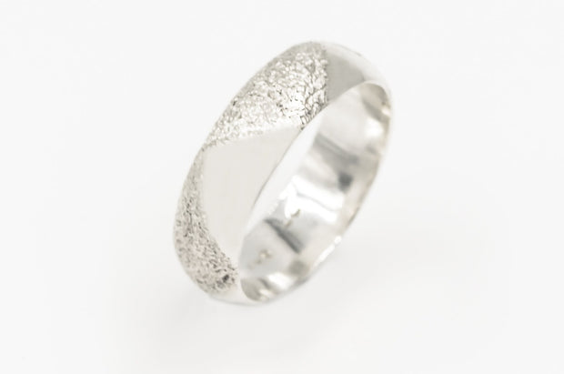 Sterling Silver Textured Band 6mm