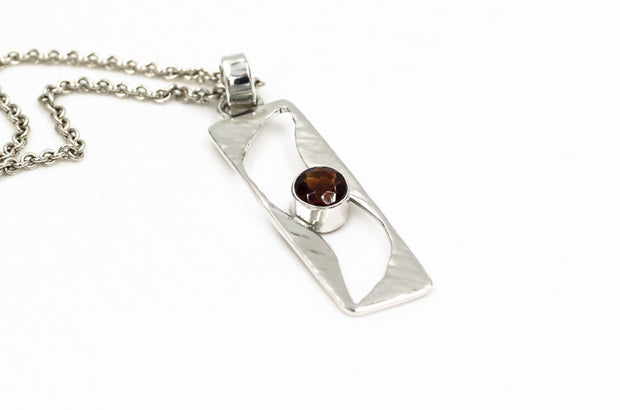 Sterling-silver-wave-cutout-pendant-with-fire-citrine