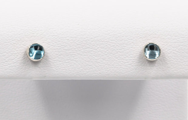 Swiss-blue-topaz-post-earrings-in-sterling-silver-4mm
