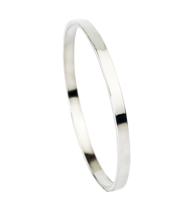thick sterling silver bangle bracelet