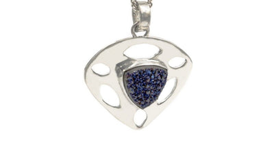 Statement Piece Sterling Silver Druzy Pendant Necklace