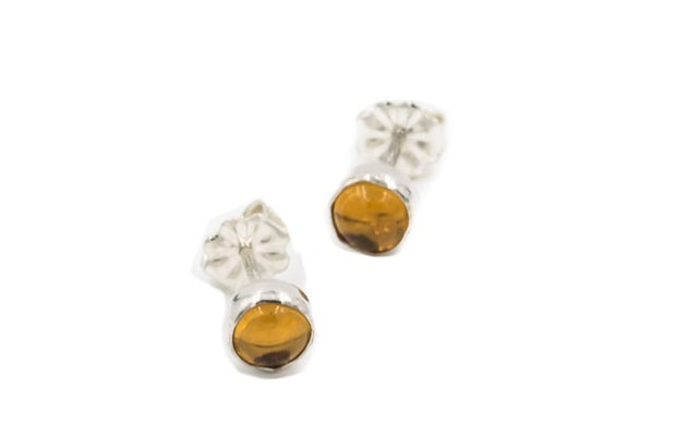 Citrine-stud-earrings-sterling-silver