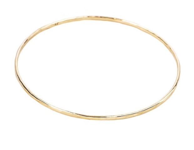 Faceted 14k Gold bangle bracelet 2mm