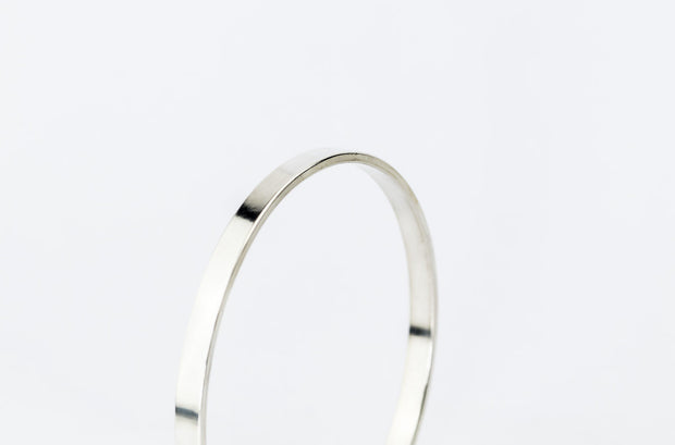 Thick Sterling Silver Unisex Bangle Bracelet