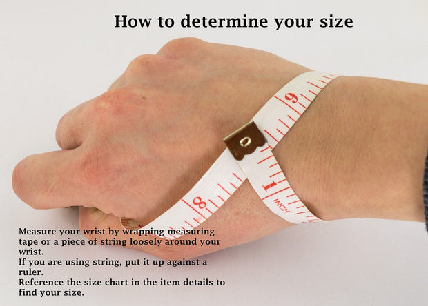 how to determine your wrist size for RuxiTirisi bangles