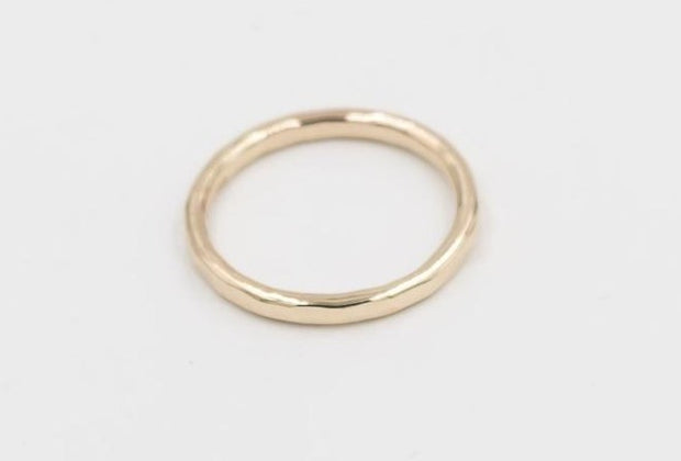 solid gold 14k textured ring