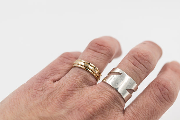 set of three 14k solid gold rings