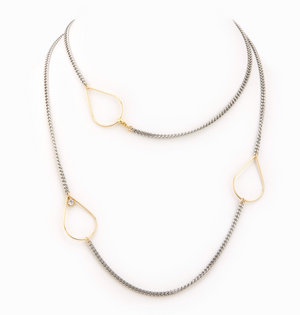 Taylor and Tessier Silver Drop Necklace