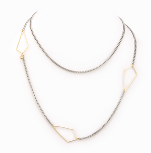 Taylor and Tessier Silver Kite Necklace