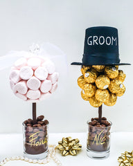 Bride and Groom Sweet Trees