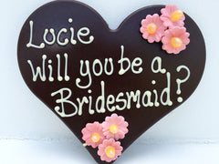 Will You Be My Bridesmaid Chocolate Heart