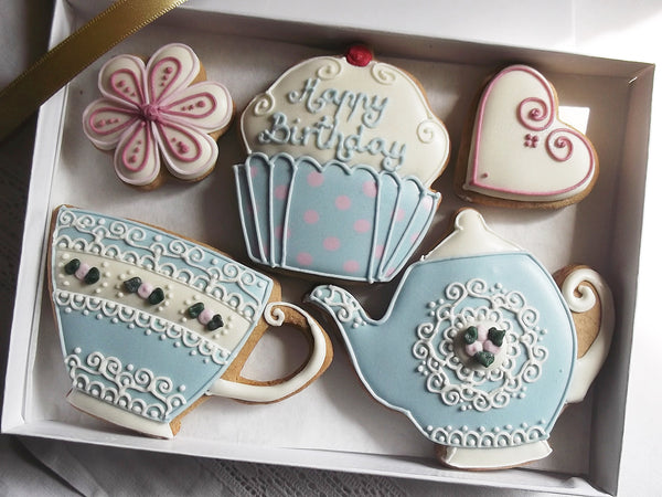 Vintage Happy Birthday Cookies