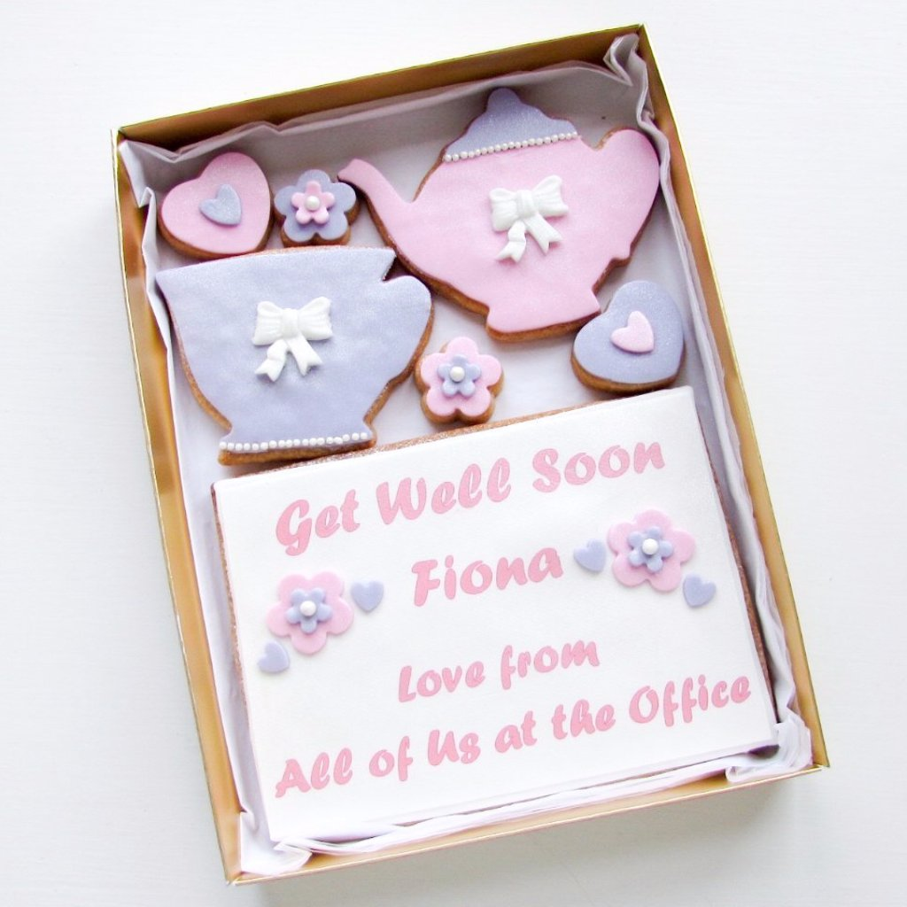 Personalised Cookie Card Tea Pot & Cuppa