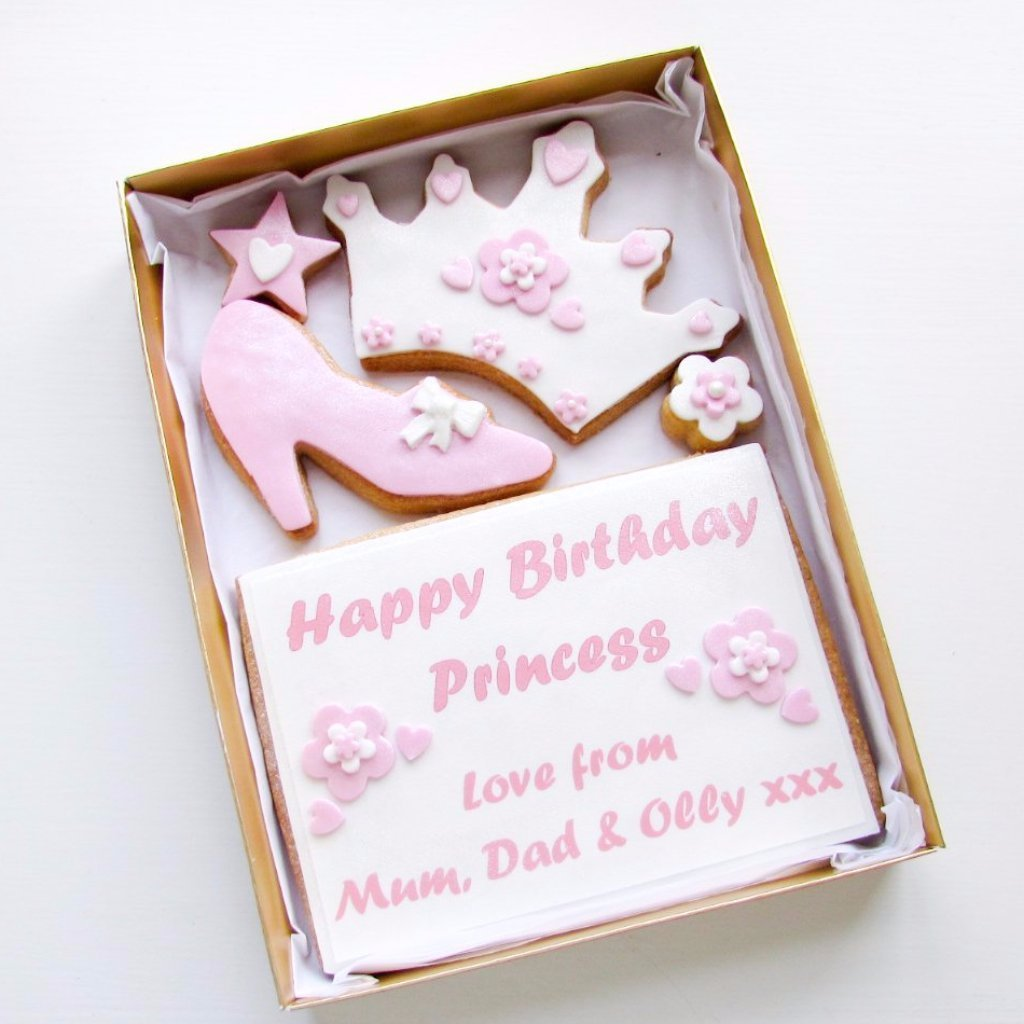 Personalised Cookie Card Princess