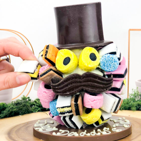 Allsorts Hat and Moustache Chocolate Head by Sweet Trees