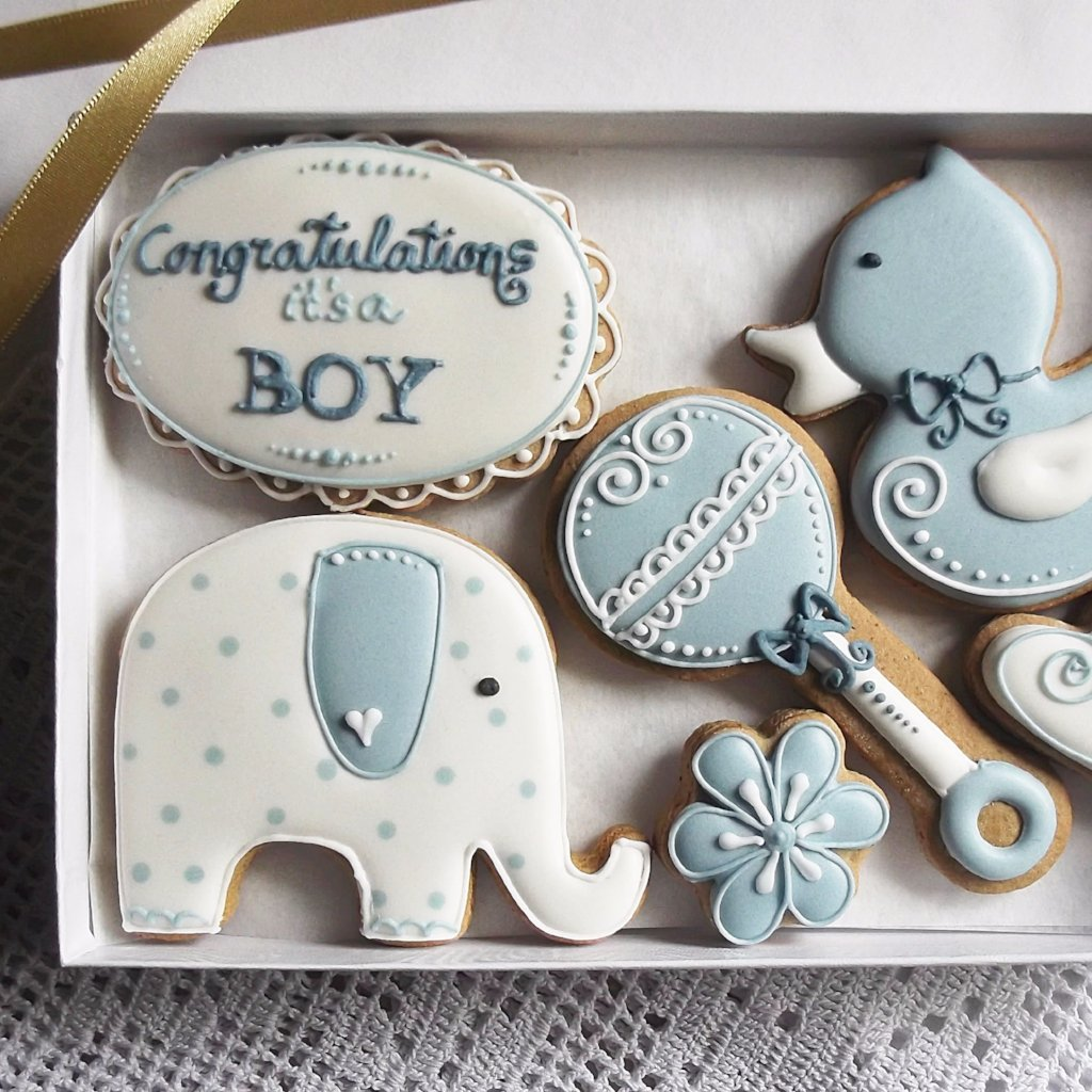 Congratulations Baby Cookie Gift Box