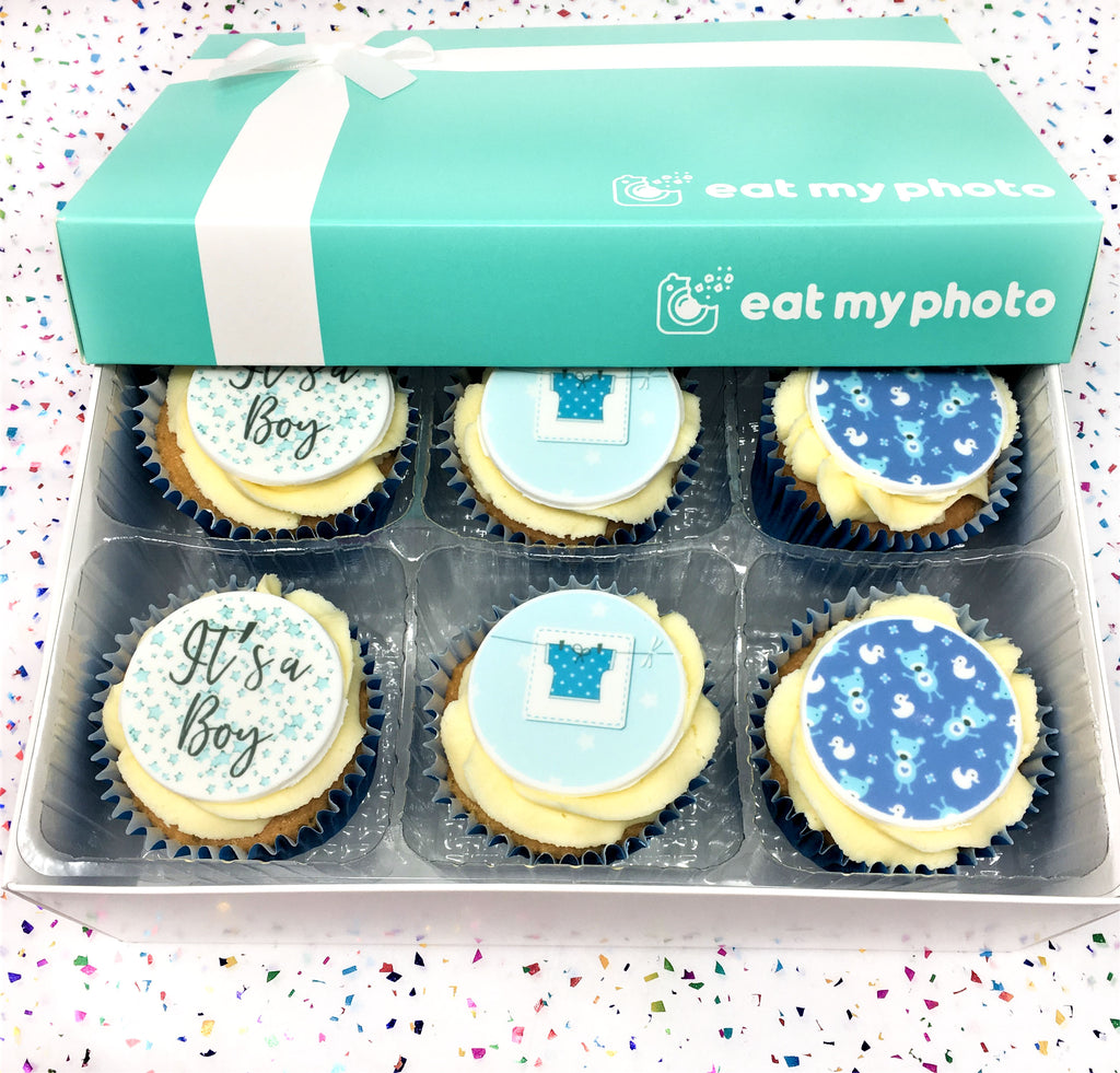 It's A Baby Boy Cupcakes by Post