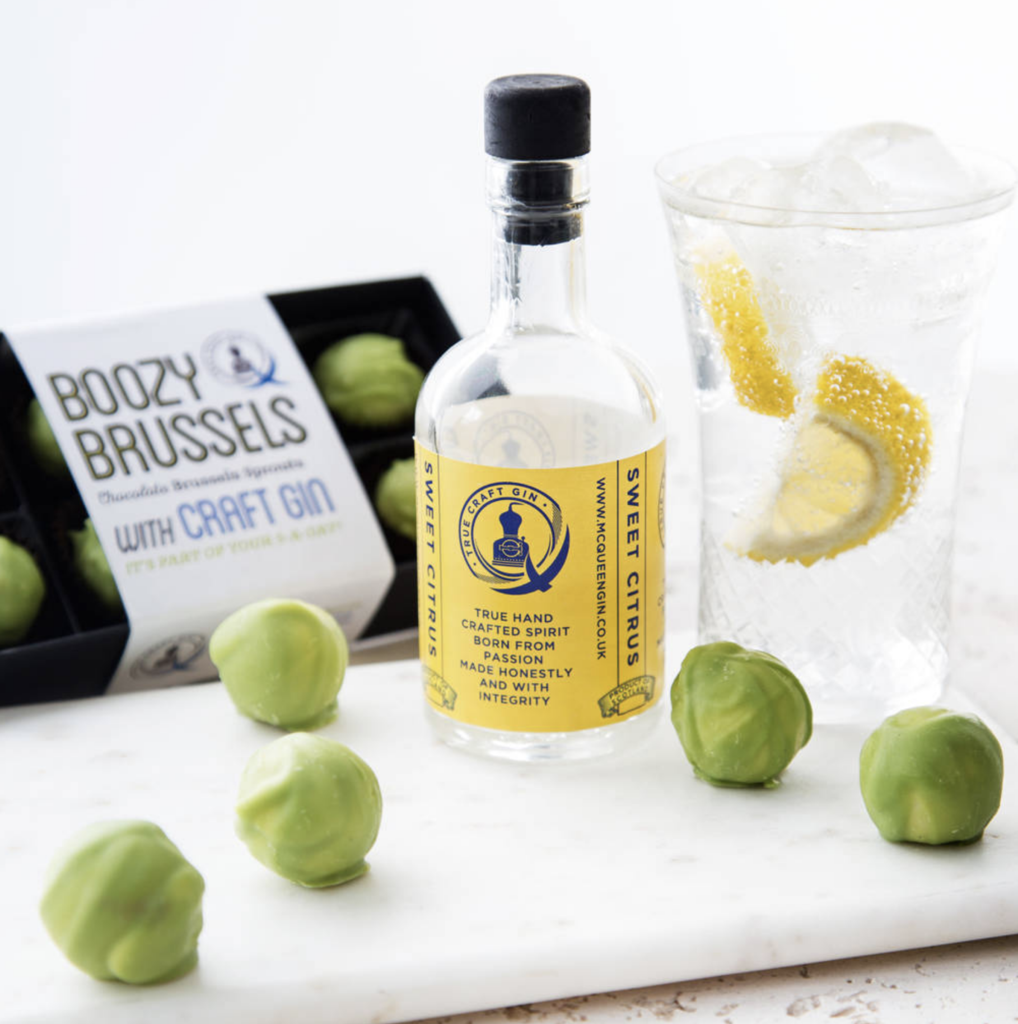 Boozy Brussel Chocolate Sprouts with Gin