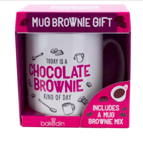 Chocolate Brownie Mug Gift BakedIn
