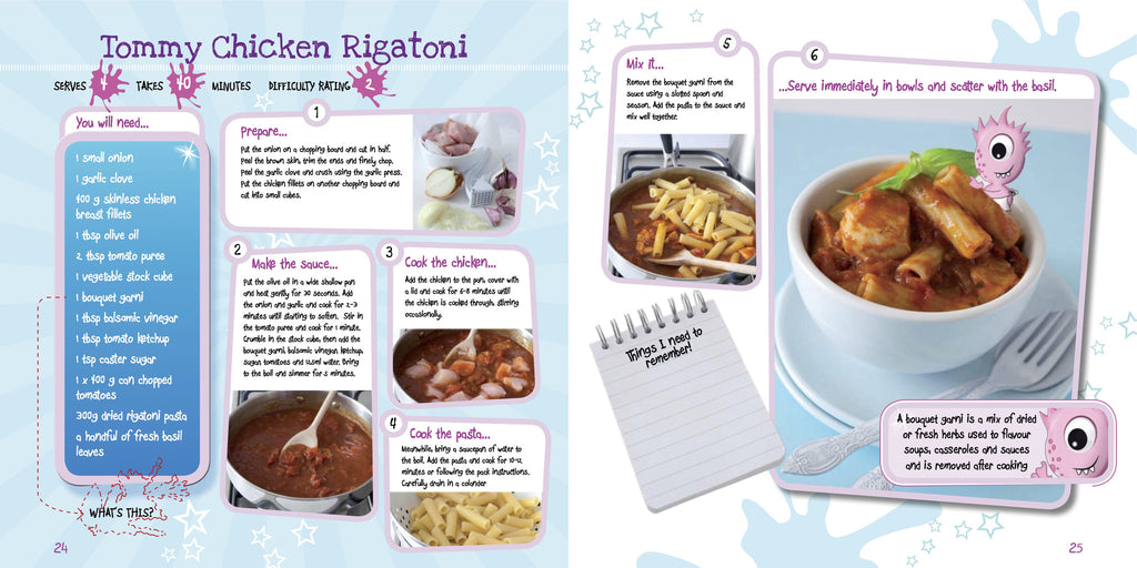 Kids Pasta Cookery Book