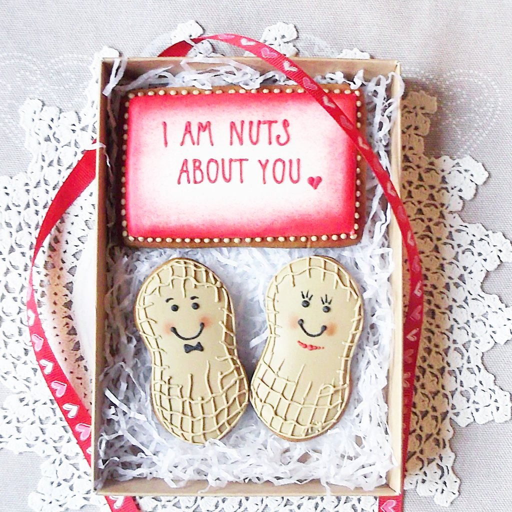 Valentines Personalised I Am Nuts About You Cookie Box