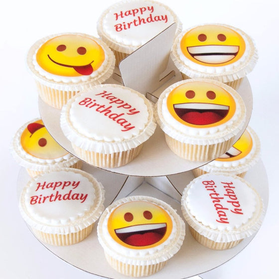 Happy Birthday Emoji Cupcakes Bakerdays