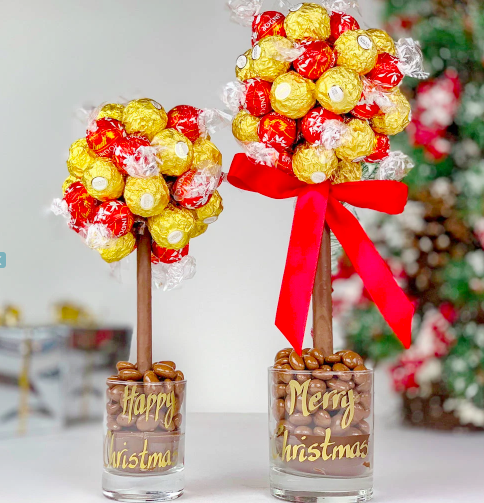 Personalised Ferrero Rocher® & Lindor Truffle Sweet Tree