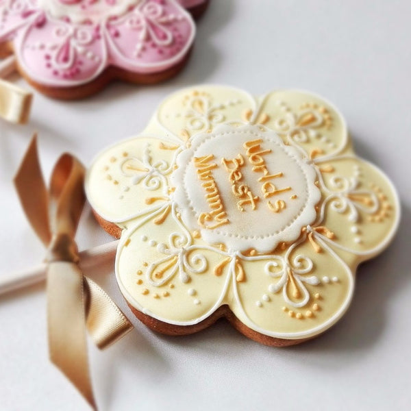 Personalised Flower Cookie Pop