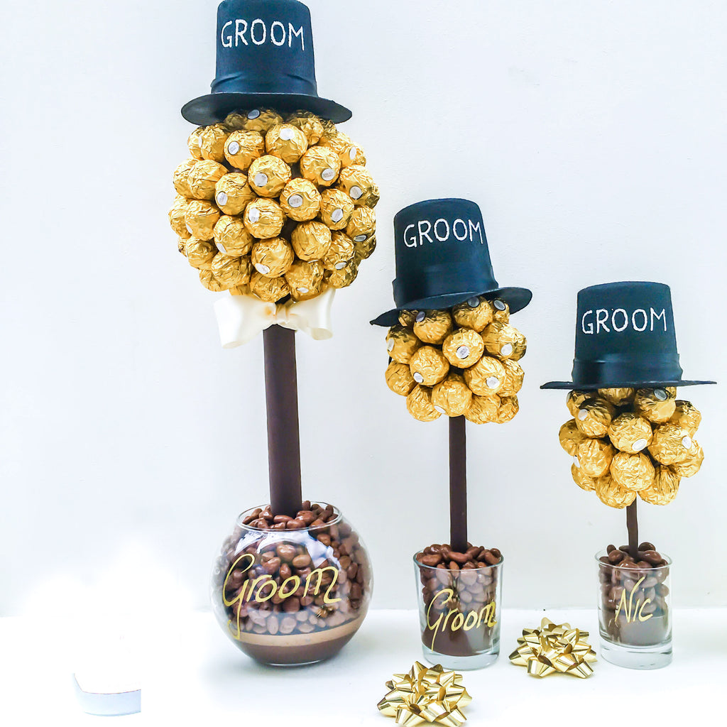 Groom Sweet Trees for Wedding Table