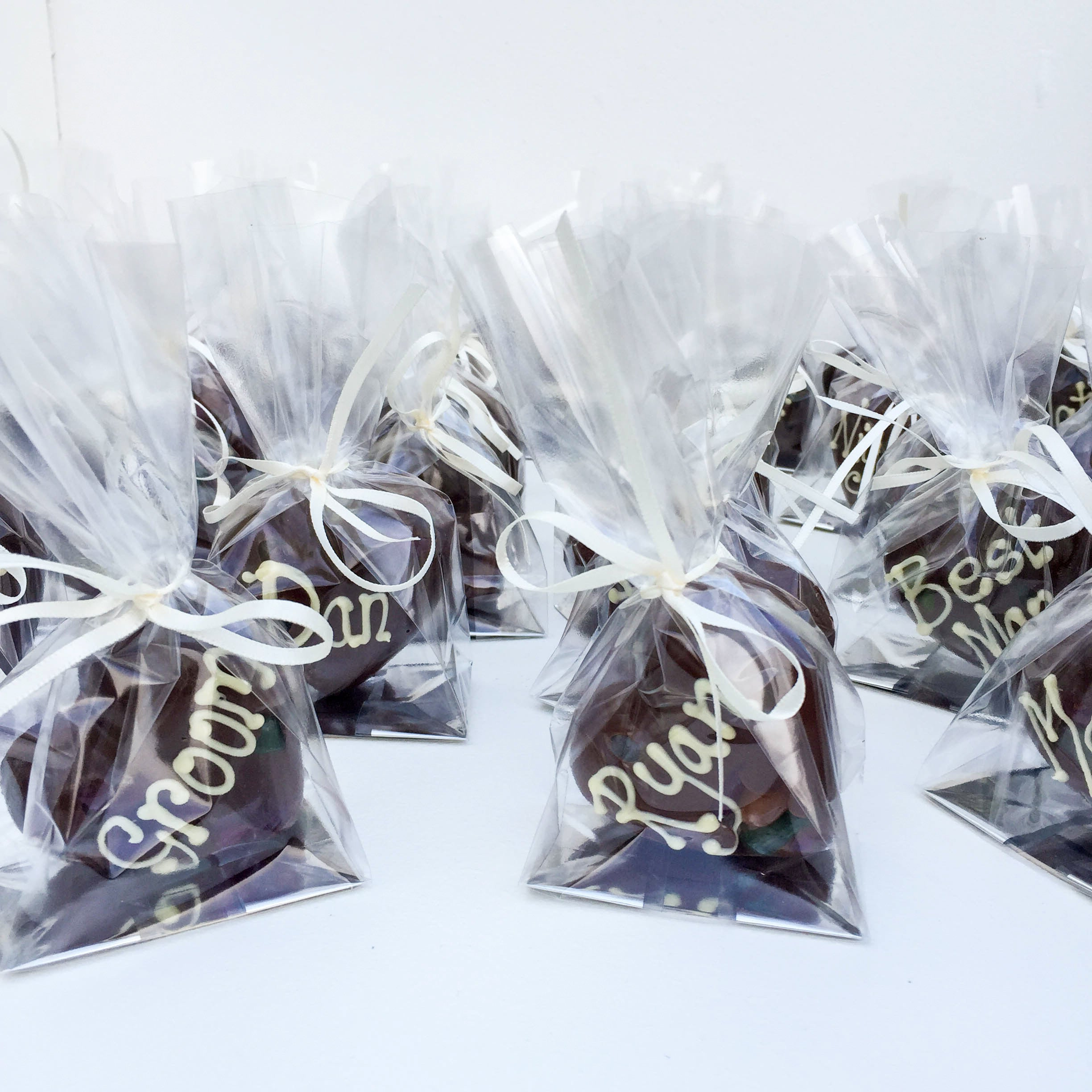 Personalised Chocolate Heart Wedding Favours - Funky Food Gifts