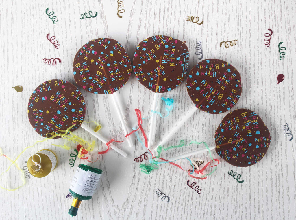Chocolate at Home Birthday Chocolate Lollipops