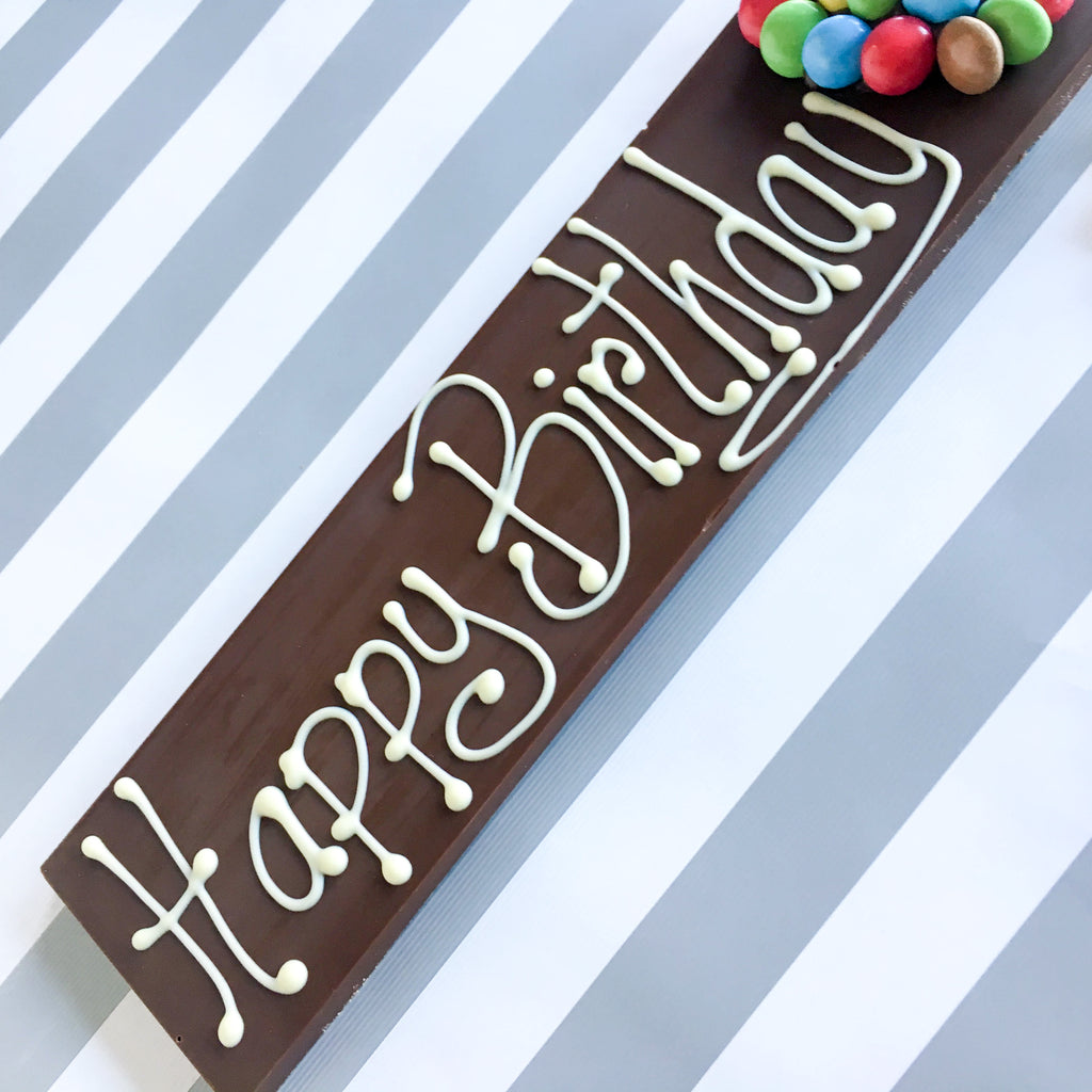 Happy Birthday Belgian Chocolate Bar Sweet Trees