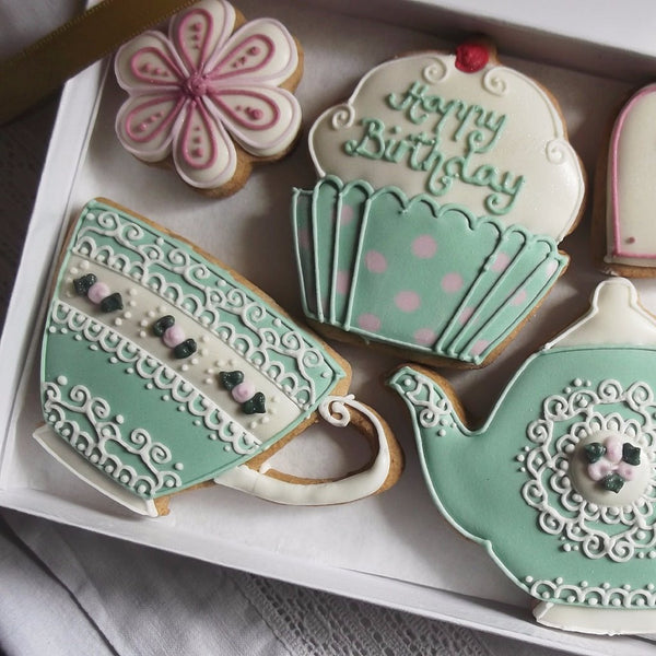 Happy Birthday Vintage Cookie Gift Box
