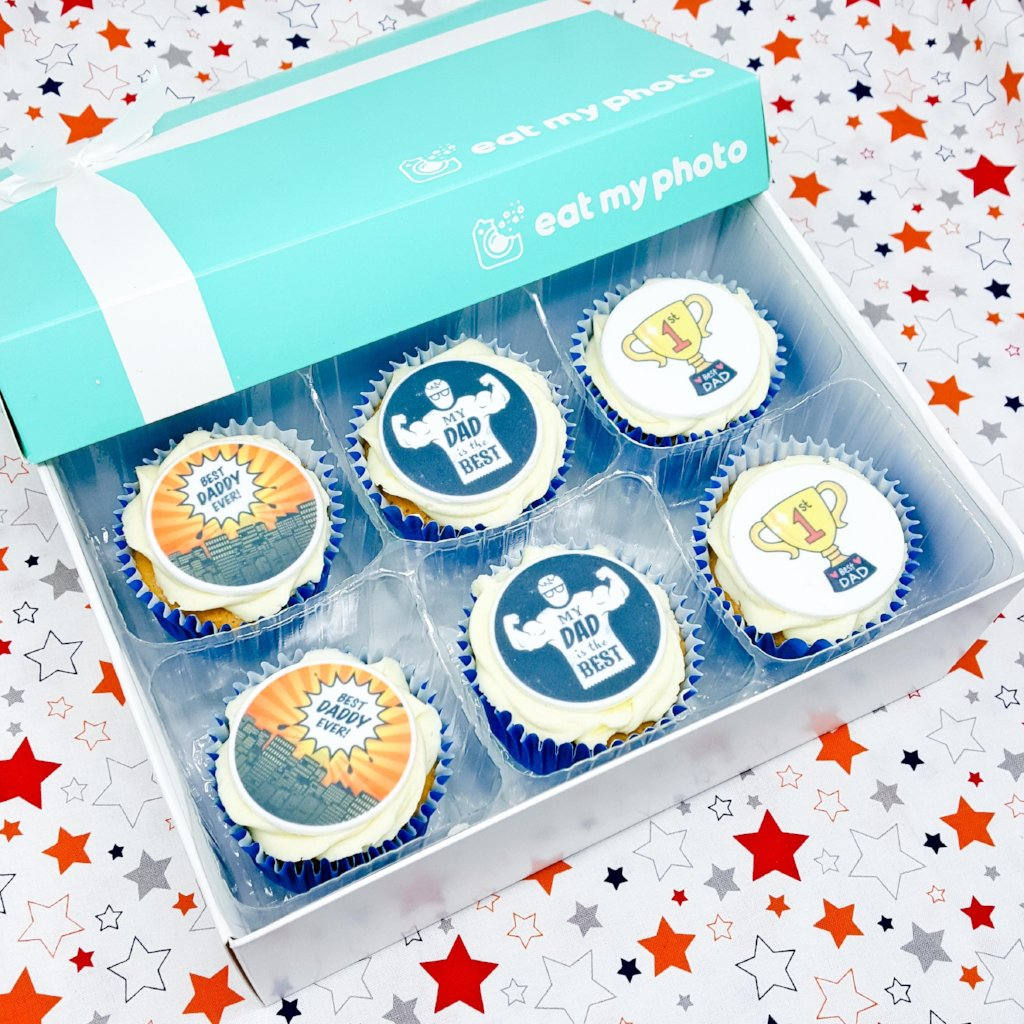 Hero Dad Cupcakes Gift Box - Funky Food Gifts