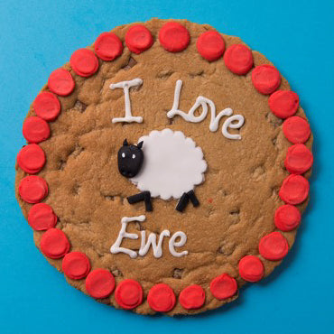 I love Ewe Cookie Card Personalised Cookies