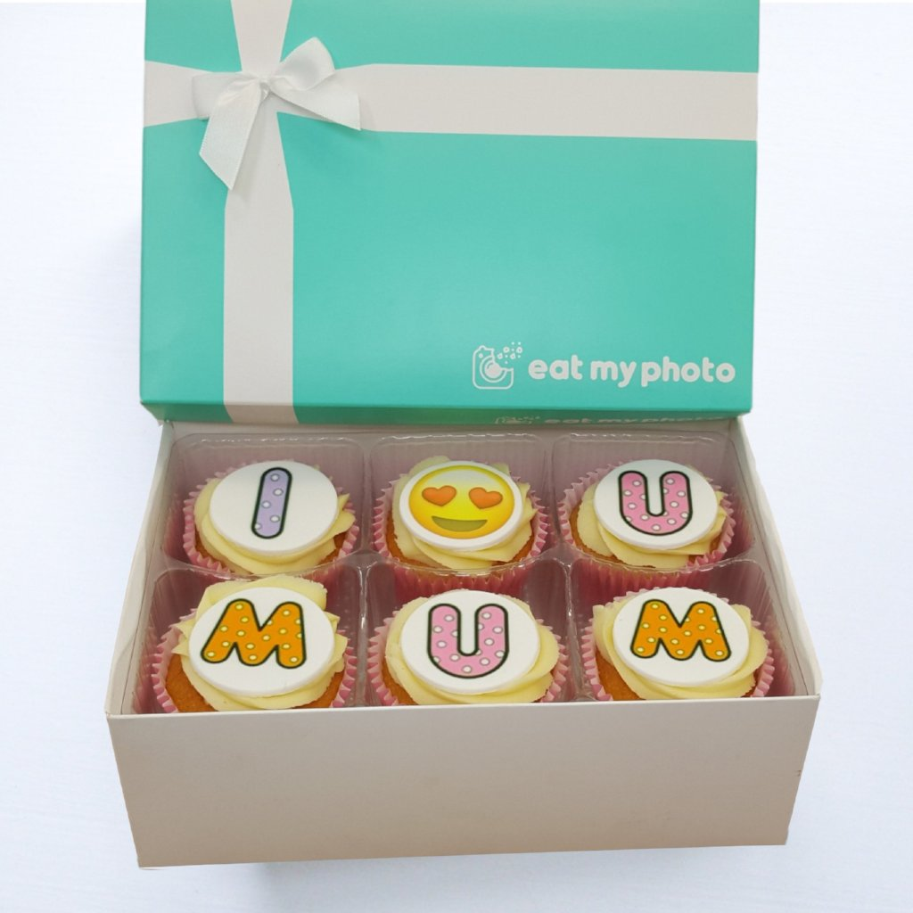 I Love You Mum Cupcakes Gift Box - Funky Food Gifts