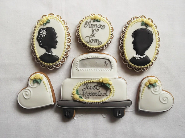 Personalised Just Married Cookie Gift Box