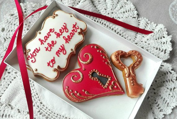 Key To My Heart Valentine's Cookie Gift Box