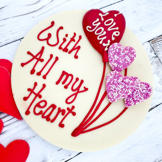 Large Valentine Chocolate Message Gift fits through the letterbox