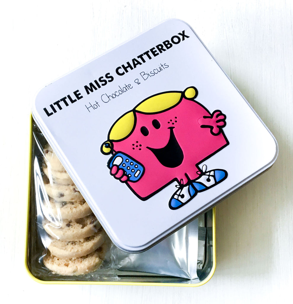 Little Miss Chatterbox Hot Chocolate and Biscuit Tin