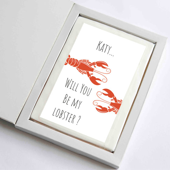 Personalised Lobster Card