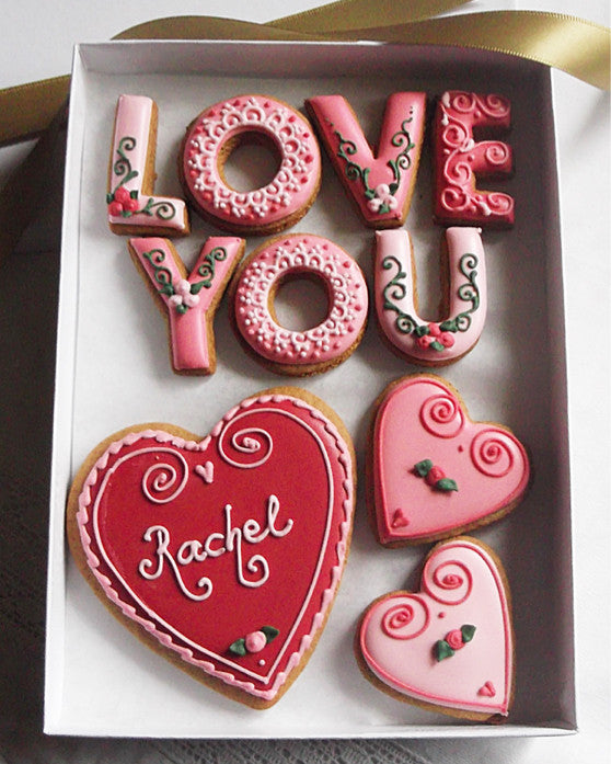 Love You Valentines Cookie Gift Box