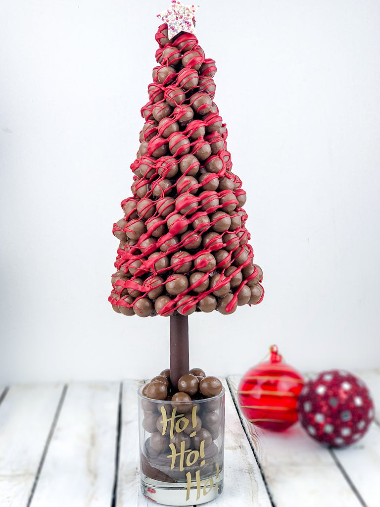 Maltesers Christmas Tree with Red Drizzle Sweet Trees