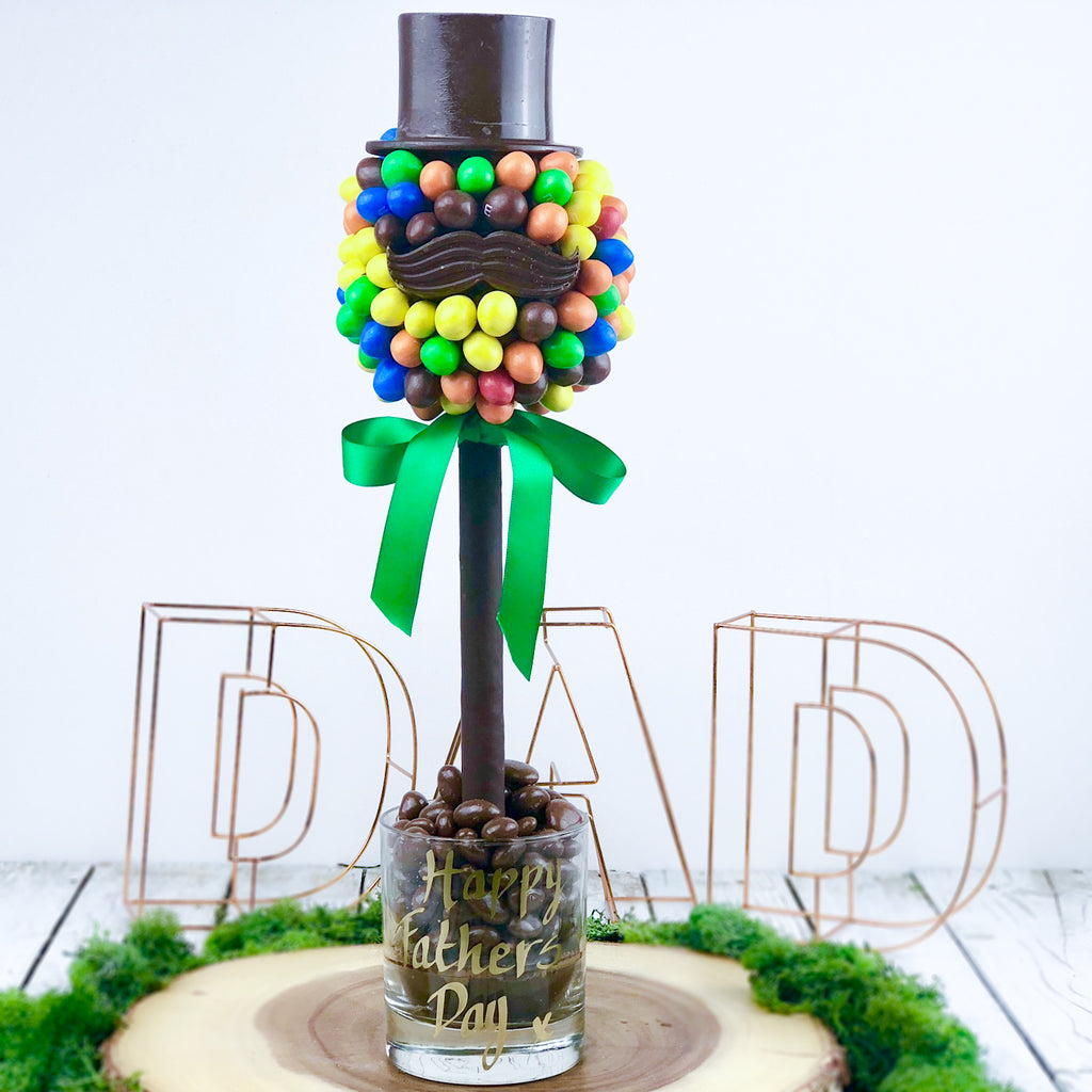 Personalised Peanut M&Ms Hat And Moustache Tree