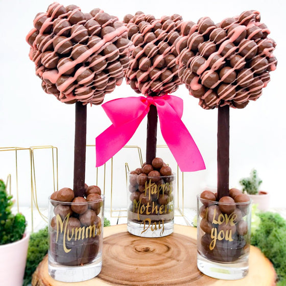 Personalised Malteser Pink Chocolate Drizzle Tree