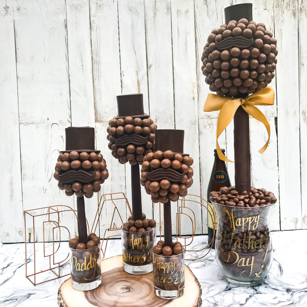 Fathers Day Malteser Hat And Moustache Tree by Sweet Trees