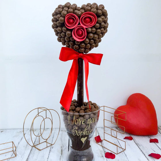 Personalised Malteser Chocolate Heart Tree